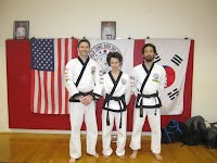 AJ with her Instructors